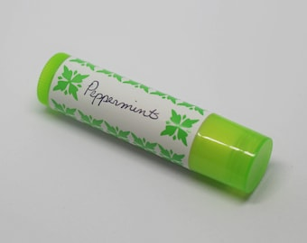Peppermint Lip Balm, All-Natural, Essential Oil, Coconut Oil and Beeswax