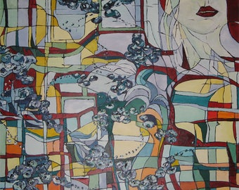 Petite Fleur, 100x80, acrylic on canvas