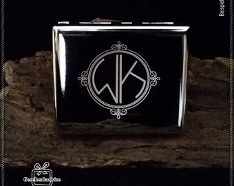 Cigarette case with your initials