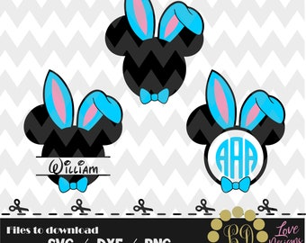 Mickey Bunny Ears svg,png,dxf,cricut,silhouette,jersey,shirt,proud,birthday,invitation,cut,girl,new,decal,minnie,disney,easter,eggs,svg