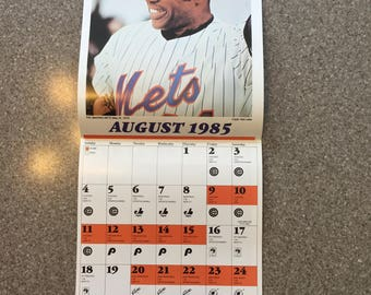 1985 Mets Calendar of Sports Illustrated Covers