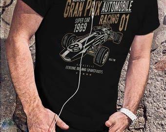 Formula 1 Classic Racing Men Black Or White T-shirt Retro Racer Tee Unique Design Shirt Quotes Tshirt Vintage Driver Tee Sizes S M L XL XXL