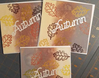 Autumn themed greeting cards