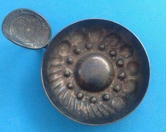 "Vintage! Vintage wine taster cup in hallmarked silver metal - ""Bourgognes Patriarche"""