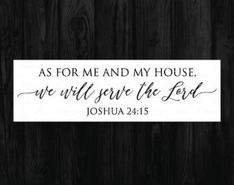 As for me and my house svg, Bible svg, Modern Farmhouse, Magnolia Market Stencil, Fixer Upper Vector, Joanna Gaines SVG, Cut File, sign