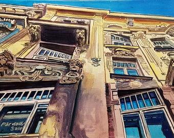 Flashback Oil Painting Original By Professional Artist Emils Kristians Muzikants