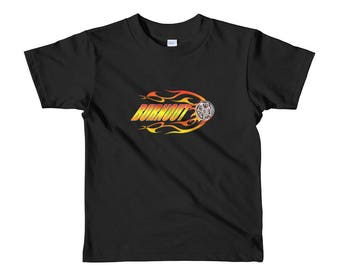 Street racer burnout Short sleeve kids t-shirt