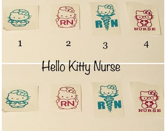 Hello Kitty Nurse/ Cellphone Decal/Laptop Decal/ Car Decal/Tumbler Decal