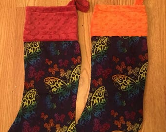 Butterfly Christmas Stockings
