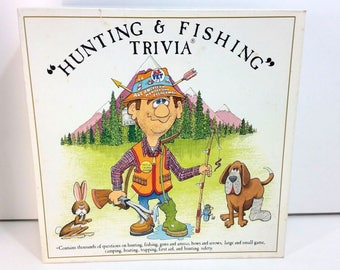 Hunting & Fishing Trivia Board Game Vintage 1985 Some Trivia Cards Missing