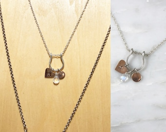 Charm Necklace with Moonstone