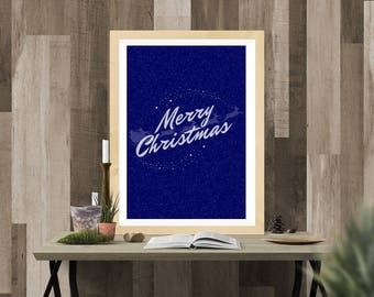 Merry Christmas printable wall art poster instant download