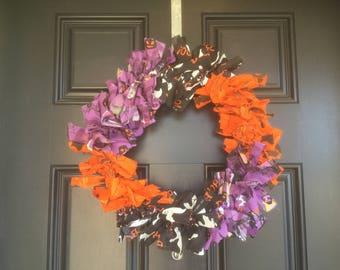 Halloween bandana wreath