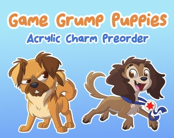 PRE-ORDER - Game Grump Puppies Acrylic Charms