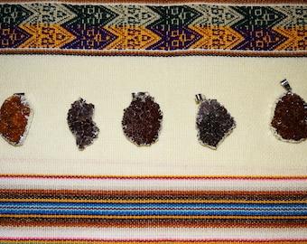 Peruvian pendant - rough stone