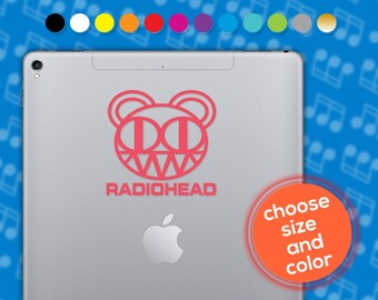 Radiohead, Radiohead decal, Radiohead sticker, Radiohead vinyl, Placebo decal, Blur decal, Muse decal, music decal, laptop decal