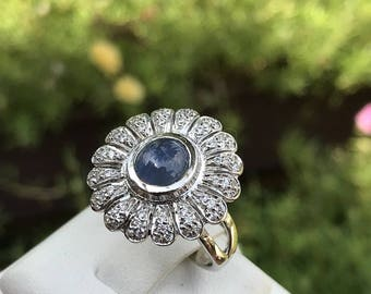 Blue Sapphire 2-755 ct/Silver Ring