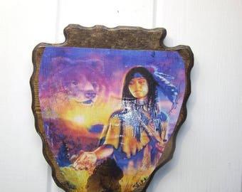 Spirit Bear Arrowhead wall Plaque