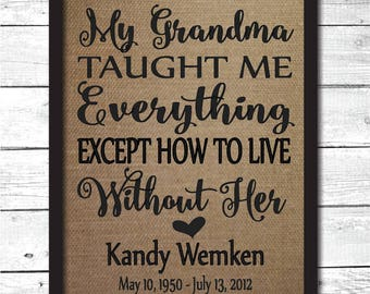 grandma memorial, grandma memorial gift, grandma memory, in memory of grandma, sympathy gift grandmother, grandmother sympathy gift, M8