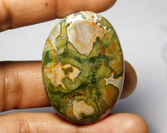 AAA++++ quality Rhyolite Cabochon,Loose Stone,Gemstone,Gorgeous Rhyolite Cabochon Excellent Gemstone 100%Natural 69.10cts.(43x31x5)mm