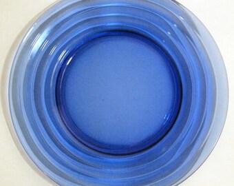 Moderntone Wedding Band Luncheon Hazel Atlas Cobalt Blue Plate