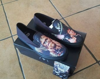 LIMITED EDITION star wars sperry shoes chewie hans solo  sz. 10.5 - NEW