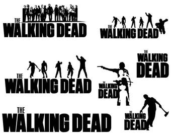Walking Dead svg, Digital Cutting File , Silhouette File , Vector File , Instant Download - Svg, Dxf, Eps, Png