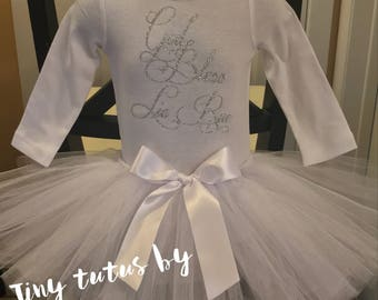 Christening outfit....christening tutu outfit...second christening outfit...tutu outfit