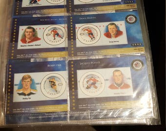 2000 NHL Stamp Cards Set Of 6 New Sealed
