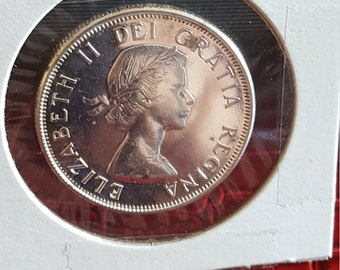 1964  Canada  Silver 50 Cents PL Cameo