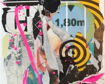 THE TARGET! Mixedmedia collage