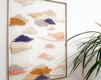 Handwoven tapestry / hand woven tapestry frame
