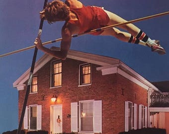 "Handmade Collage: ""Pole-Vaulting"""