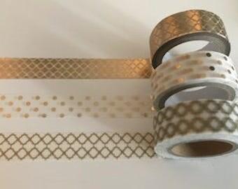 Set of 3 Gold Washi