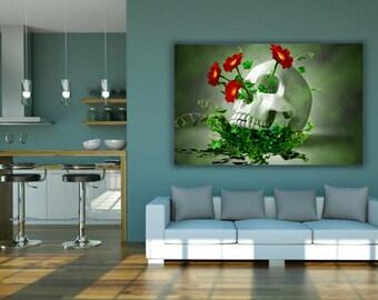 skull, skull of life,  life, art, poster, print, wall, digital, skull print, life poster, poster print