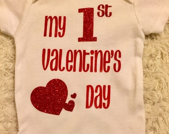My First Valentine's Day Bodysuit