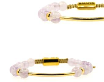 Lavendelquarzt (Lavender quartz bracelet)