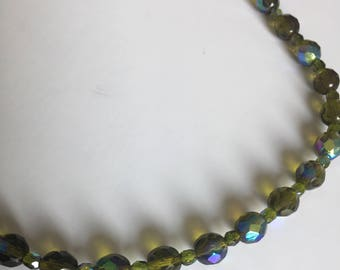 The Choker necklace, glass Crystal beads