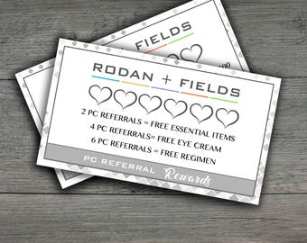 Rodan and Fields business cards, PC Loyalty and PC Referral Card ,Instant Download