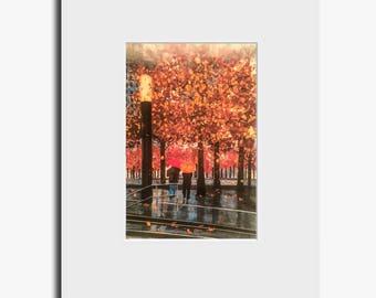 Autumn day in New York - Fine Art Print