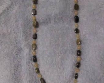 Jasper, Peridot, Sterling Silver Necklace
