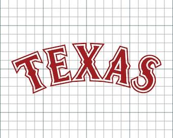 Texas Rangers Vinyl Decal (Fully Customizable)