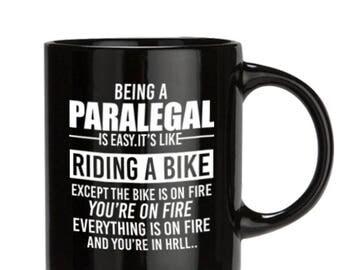 Paralegal Gift, Paralegal Mug, Paralegal Coffee Mug,  Perfect Gift for Your Dad, Mugs Pottery, Mugs, Coffe Mugs, 11oz/15oz, Black/white