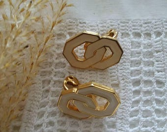 Monet Winter White Clip Earrings