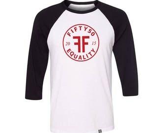 Equality Raglan Shirt - Equality Baseball Shirt - Equality Shirt - Unisex - by fifty50 apparel