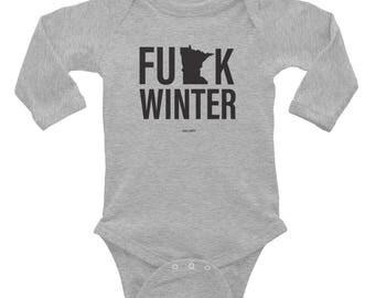 F Winter MN Infant Long Sleeve Bodysuit