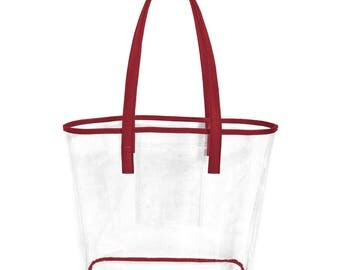 Burgundy Stadium Bag! Perfect for Carolina/Florida State/Alabama/ Arkansas/ Texas A & M Games!! Monogramming Available!