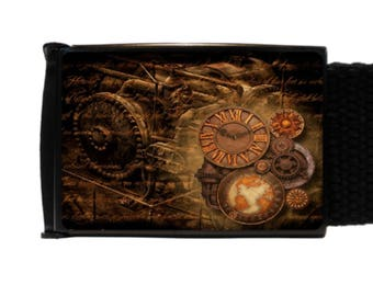 Steampunk Belt Canvas Belt new
