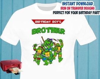 TMNT , Brother , Iron On Transfer , TMNT Brother Birthday Shirt Design , Ninja Turtles DIY Shirt Transfer , Digital Files