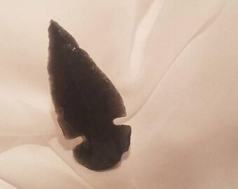 Sku F1 - Onyx Arrowhead Adjustable Ring